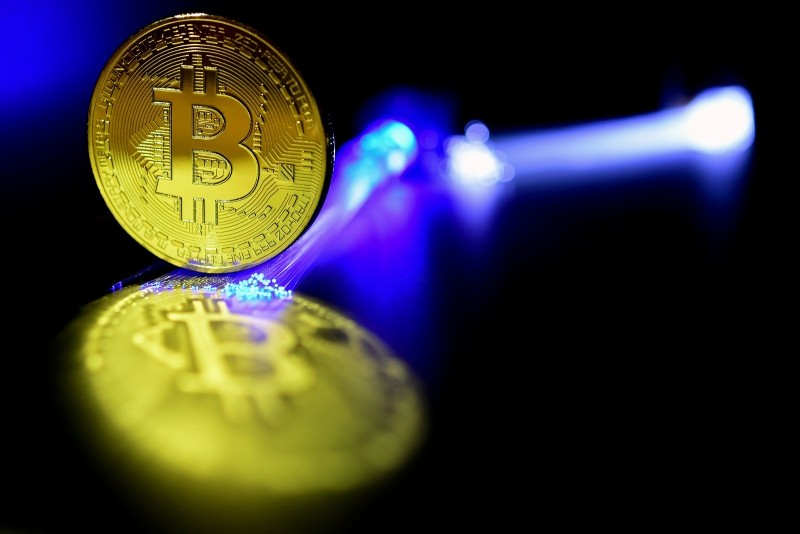 A Bitcoin is pictured in Duesseldorf, Germany, December 27, 2017. (EPA Photo)