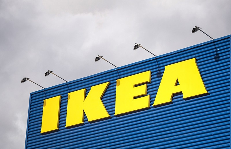 This file photo taken on March 30, 2016 shows the logo of IKEA outside Europe's biggest Ikea store in Kungens Kurva, Sweden. (AFP Photo)