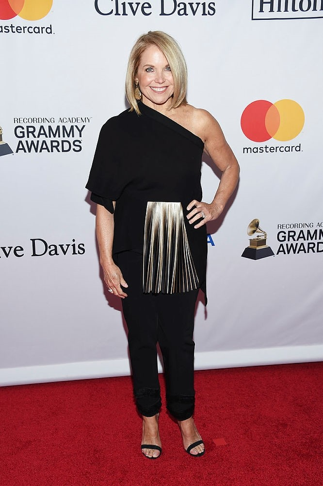 Katie Couric arrives at the 2018 Pre-Grammy Gala And Salute To Industry Icons at the Sheraton New York Times Square Hotel on Saturday, Jan. 27, 2018, in New York. (AP Photo)
