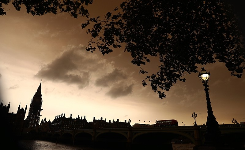 Clouds gather over a view of Westminster in central London, Britain, October 16, 2017.