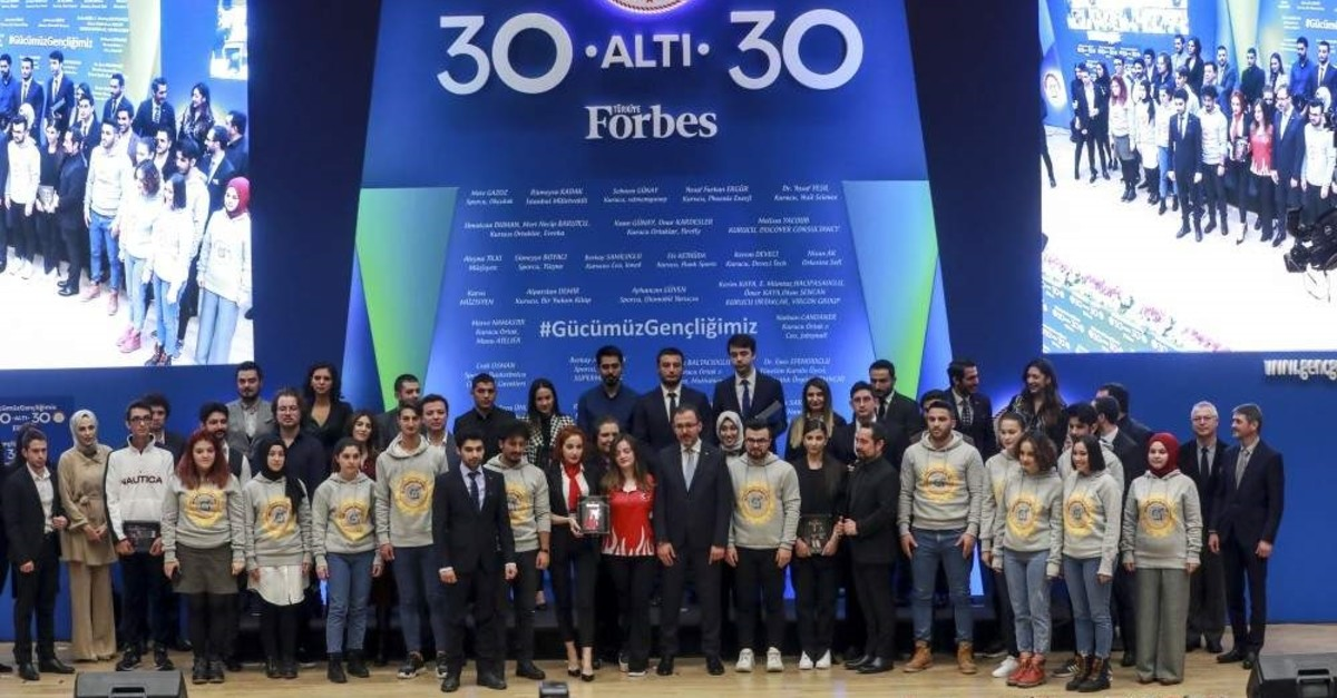 Youth and Sports Minister Mehmet Muharrem Kasapo?lu awarded 30 young people under the ,30 under 30, programme in Ankara on Dec.11, 2019 ( Ahmet ?zgi - Anadolu Agency)