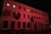 Athens Municipality goes red to show solidarity with Istanbul
