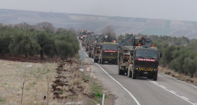 A Turkish military convoy is being dispatched to the Syrian border in Turkey's southern Kilis province, Jan. 4.
