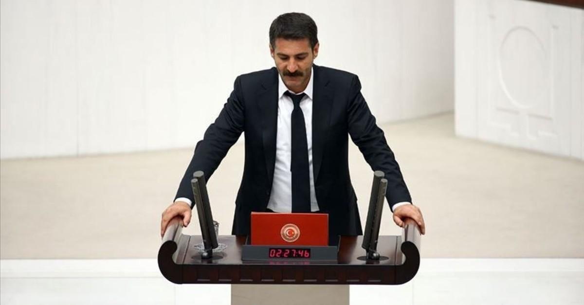 HDP lawmaker Murat Saru0131sau00e7 speaks at the Turkish parliament (AA File Photo)