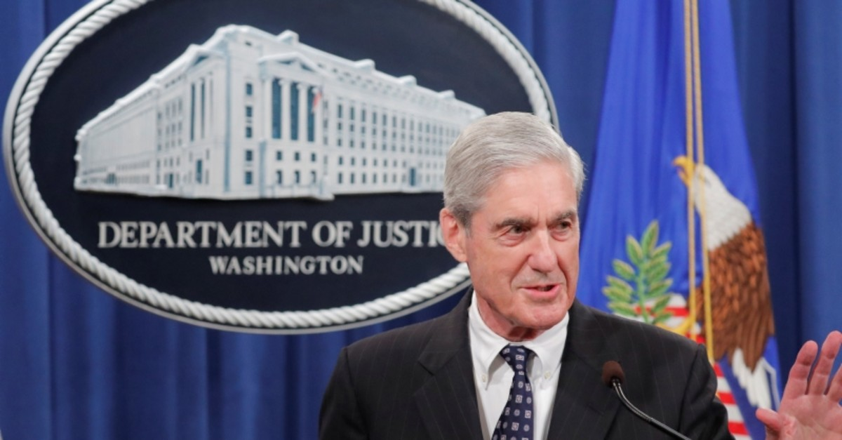 U.S. Special Counsel Robert Mueller delivers a statement on his investigation into Russian interference in the 2016 U.S. presidential election at the Justice Department in Washington, U.S., May 29, 2019. (Reuters Photo)