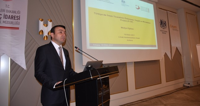The Head of the Human Trafficking Victims' Protection Office Osman Koramaz (AA Photo)