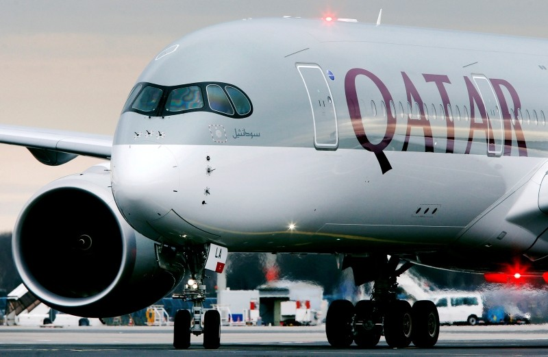 In this Jan. 15, 2015, file photo, a Qatar Airways jet arriving from Doha, Qatar, approaches the gate at the airport in Frankfurt, Germany. (AP Photo)