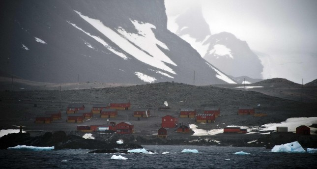 File photo taken on March 05, 2014 of the Argentinian Esperanza military base from the Brazilian Navy's Oceanographic Ship Ary Rongel in Antarctica. AFP Photo