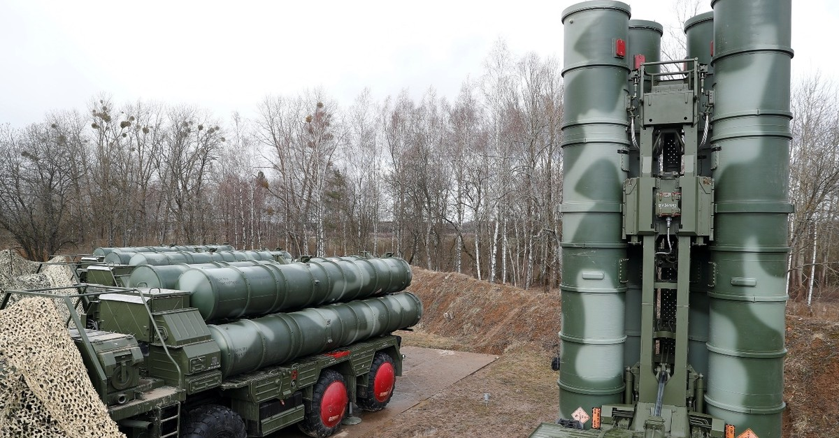 A picture shows a new S-400 u201cTriumphu201d surface-to-air missile system after its deployment at a military base outside the town of Gvardeysk near Kaliningrad, Russia, March 11, 2019.