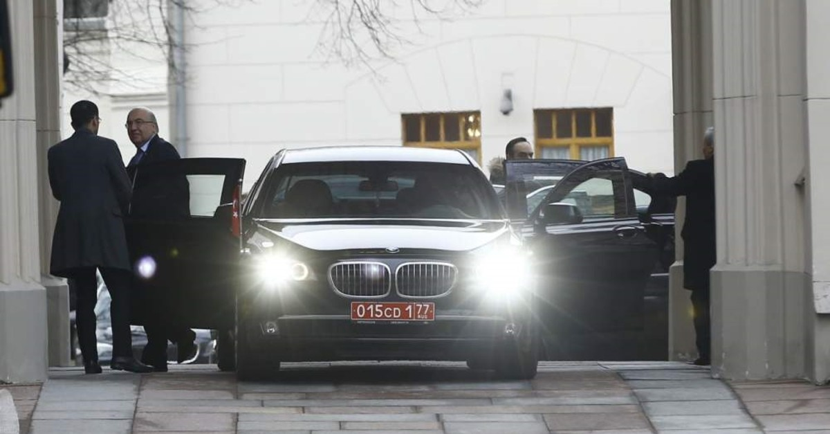 Turkish delegation arrives in Moscow on Tuesday, Feb. 18, 2020 (AA Photo)