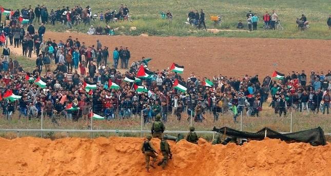 من المواجهات بين المتظاهرين الفلسطينيين والجيش الإسرائيلي أرشيفية