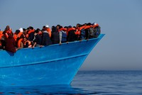 Some 180 Ethiopian and Somali migrants were forced into rough seas off Yemen by smugglers early Thursday and 55 of them are presumed to have drowned, the U.N. migration agency said.
