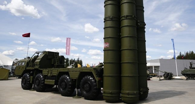 Russia's S-400 surface-to-air missile SAM system on display at the International Military-Technical Forum Army, Moscow, June 25, 2019.