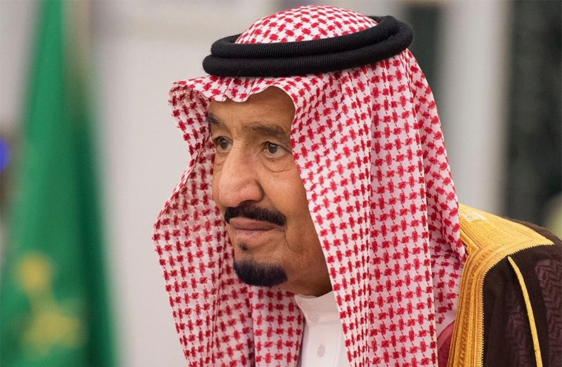 In this photo provided by the Saudi Press Agency, King Salman attends a swearing in ceremony in Riyadh, Saudi Arabia, Monday, Nov. 6, 2017 (AP Photo)