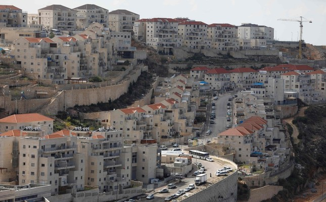 A view of the Israeli settlement of Beitar Illit in the occupied West Bank, Feb. 14.
