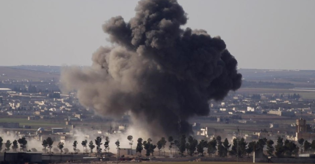 Smoke rises from the northern Syrian town of al-Bab in this Reuters file photo dated February 2, 2017.
