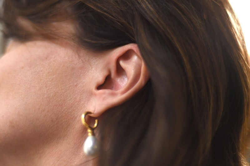 An ear is seen in Washington,DC on May 16, 2018.  A simple looped soundbite with just two syllables has ignited an internet meltdown, dividing social media users into staunchly opposed camps: do you hear ,Yanny, or ,Laurel?, (AFP Photo)