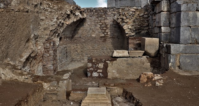 Excavation work continues to unearth the details of the St. Paul Church in the ancient city of Pisidia Antiocheia, which is today's Yalvaç district of southern Isparta province.