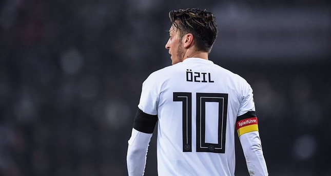 Mesut Özil donning his Germany national team jersey during the 2018 World Cup.