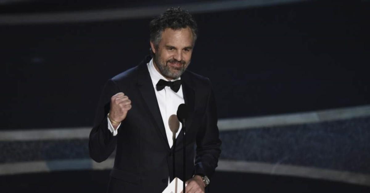 Mark Ruffalo presents the award for best documentary feature at the Oscars on Sunday, Feb. 9, 2020. (AP Photo)
