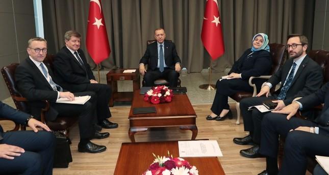 أردوغان يستقبل مدير منظمة العمل الدولية