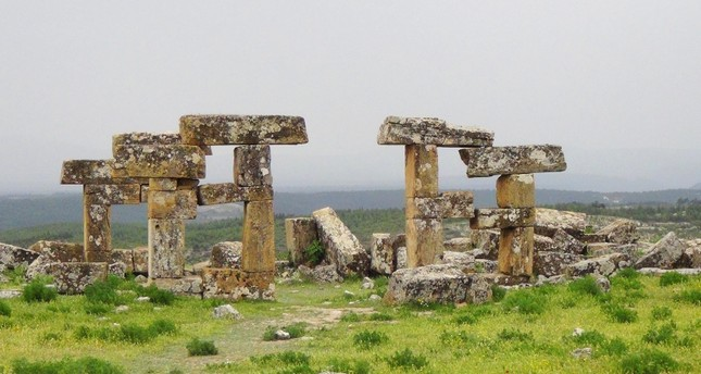The ruins at the ancient city of Blaundus in western Turkey's Uşak province (DHA Photo)
