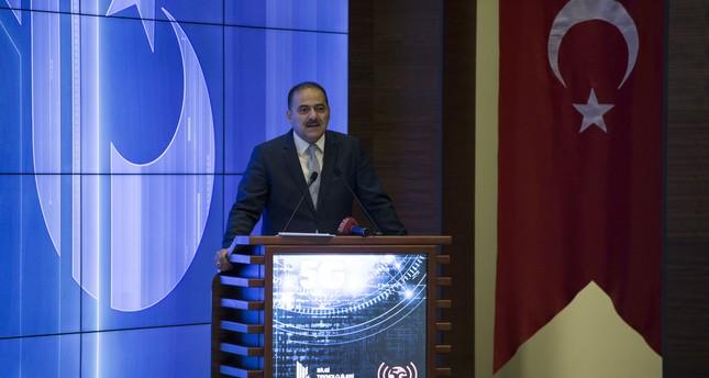 Ömer Faruk Sayan, the head of Turkey's Information and Communication Technologies Authority (BTK)  speaks at a forum in Ankara, Turkey on November 14, 2017. (AA Photo)