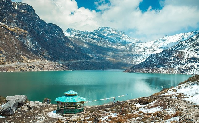 A view of Tsangmo Lake near Nathu La border pass on the Chinese-Indian border, in Sikkim, India. (iStockPhoto)