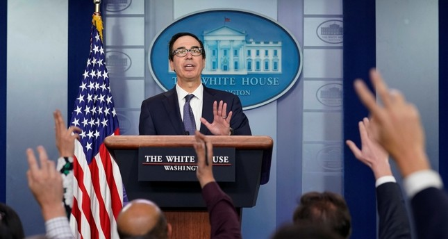 U.S. Treasury Secretary Steve Mnuchin speaks about sanctions against Turkey at a news briefing at the White House in Washington, U.S., Oct. 11, 2019. (Reuters Photo)