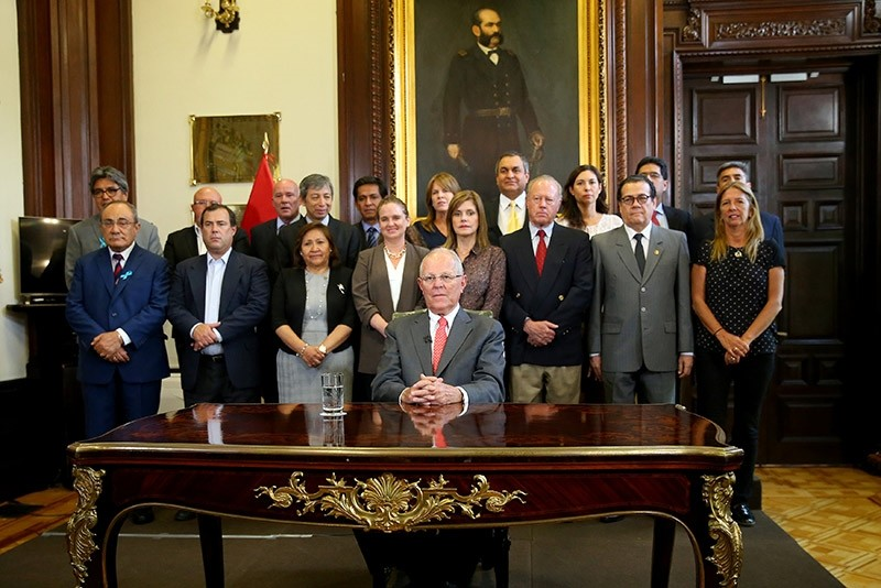 Peru's President Pedro Pablo Kuczynski addresses the nation as he resigns at the Presidential Palace in Lima, Peru March 21, 2018. (Reuters Photo)