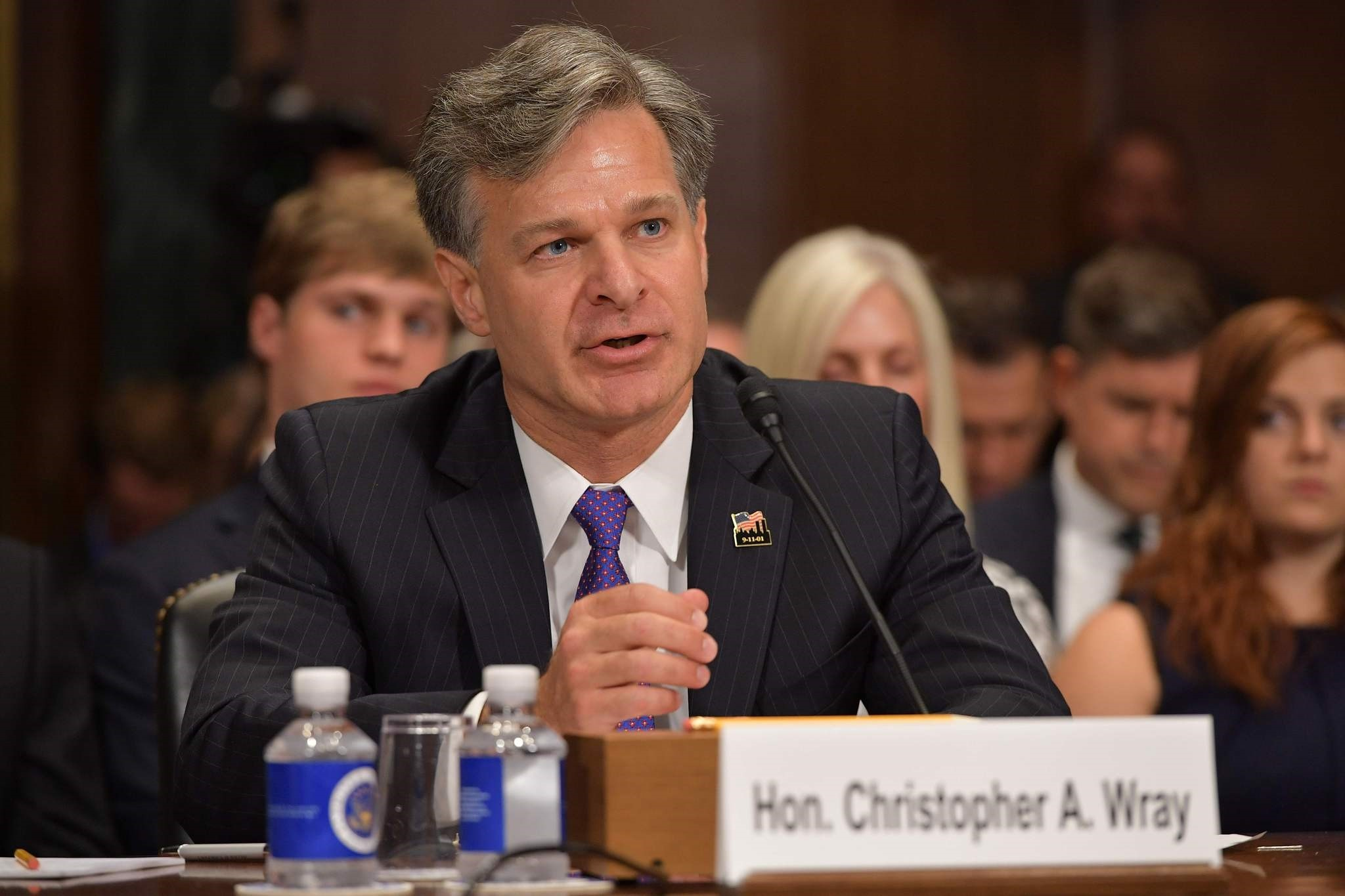 Christopher Wray testifies before the Senate Judiciary Committee on his nomination to be the director of the Federal Bureau of Investigation on Capitol Hill on July 12, 2017. (EPA Photo)