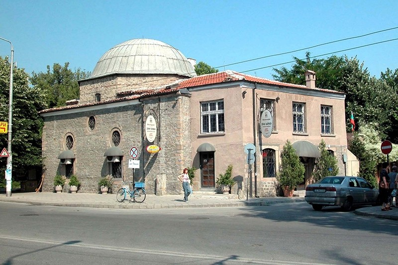 Historical Ottoman Tau015fku00f6pru00fc Mosque built in 16th century in Plovdiv, Bulgaria. (AA Photo)