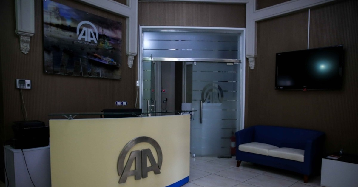 Entrance of Anadolu Agency office in Cairo. (AA Photo)