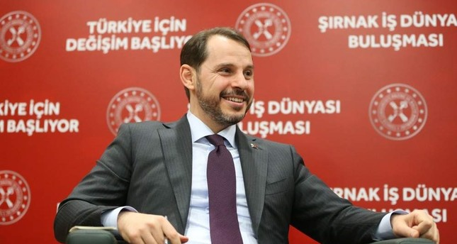 Treasury and Finance Minister Berat Albayrak met with businesspeople in the southeastern province of ??rnak, Dec. 27, 2019. AA Photo