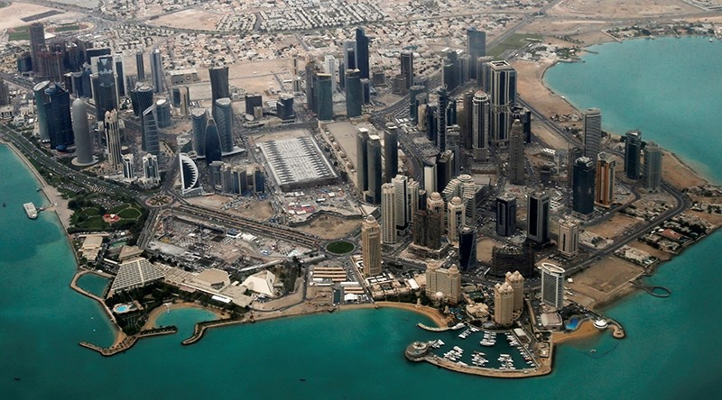 An aerial view of the diplomatic area in Doha, Qatar, March 21, 2013. (Reuters Photo)