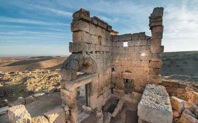 A Roman church inside the walls of the Zerzevan Castle.