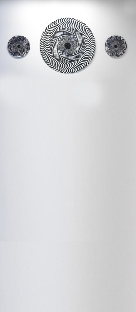 Monika Bulanda, u201cSpiral,u201d 2018 Mix technique, 146x146 cm.