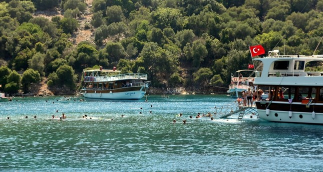 خلجان موغلا التركية.. التقاء الأخضر والأزرق في نفس اللوحة