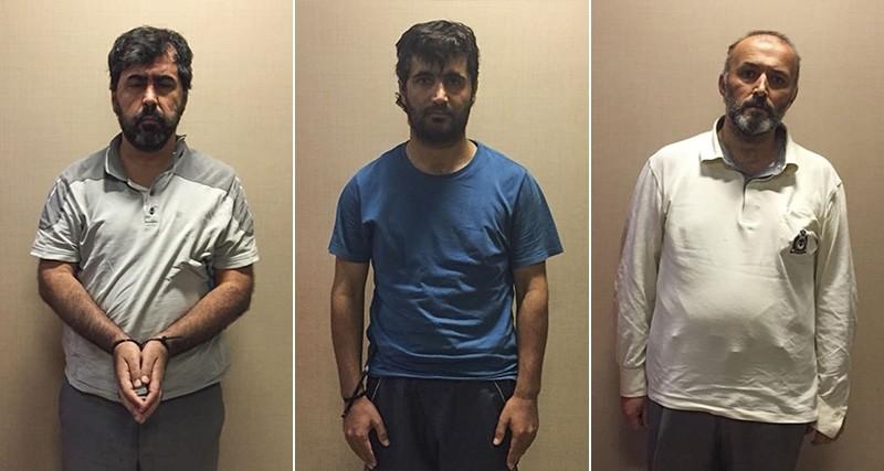 FETu00d6 suspects u0130brahim Akbau015f, Adnan Demiru00f6nal and Osman u00d6zpu0131nar. (AA Photo)