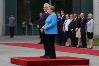 Merkel seen shaking for third time in a month