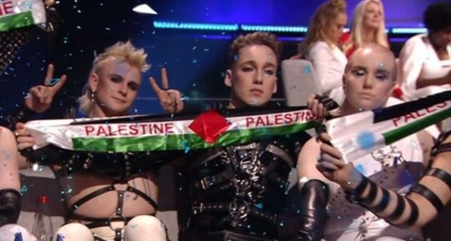 Iceland at Eurovision protests Israeli occupation of Palestine