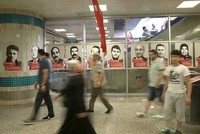 Yenikapı Metro dotted with photos of democracy martyrs