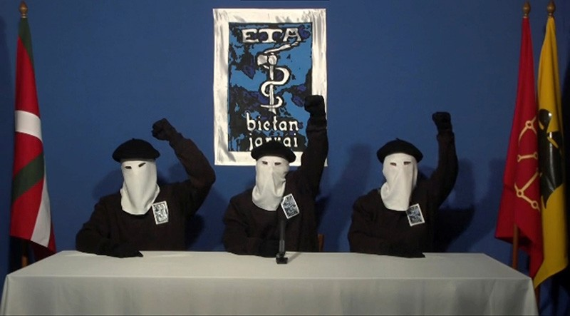 Three members of Basque separatist group ETA call for a definitive end to 50 years of armed struggle (Reuters File Photo)