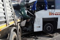 2 killed, 22 injured after bus collides with truck in Turkey's Afyonkarahisar