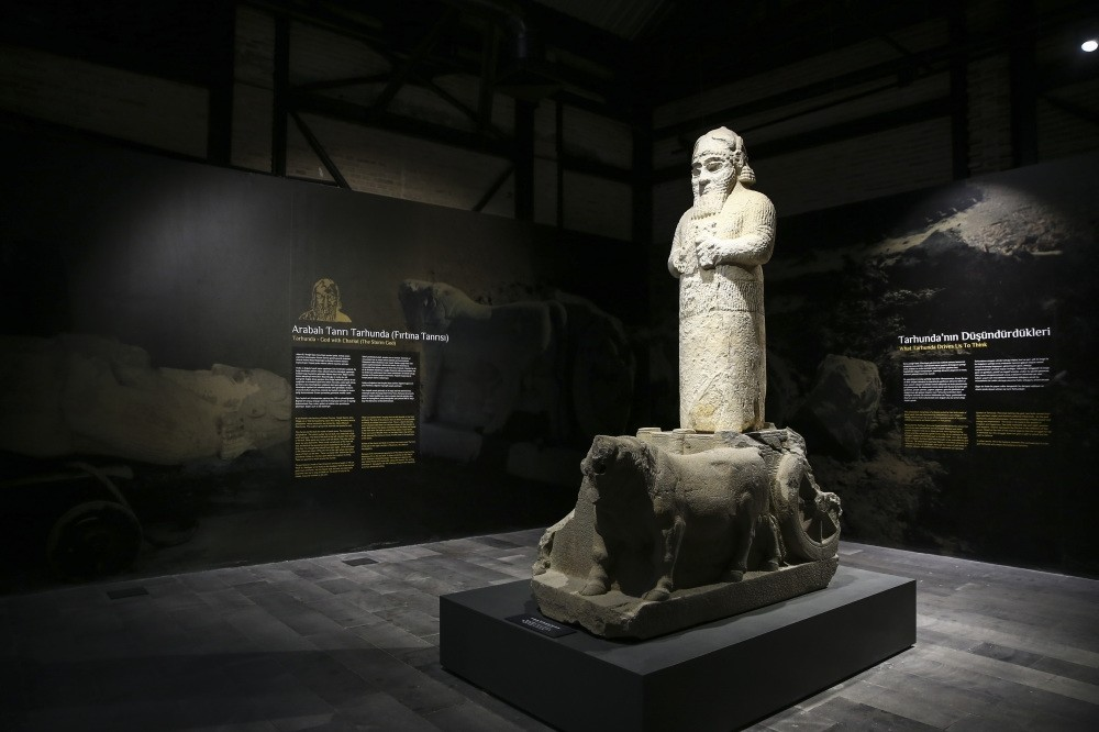 The Archeology Museum, the first stage of the large complex to be completed, hosts artifacts including a stone statue of Hittite god of thunder Tarhunt.