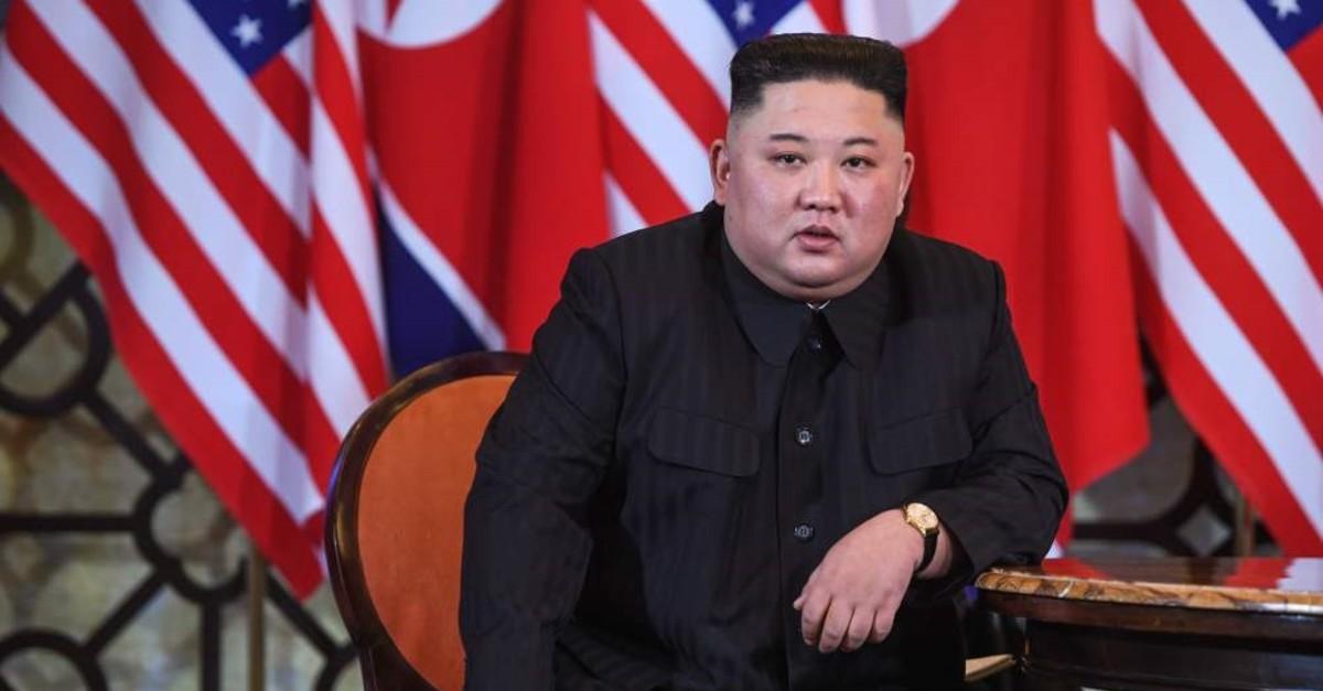 North Korea's leader Kim Jong Un at the second U.S.-North Korea summit, Hanoi, Feb. 28, 2019.