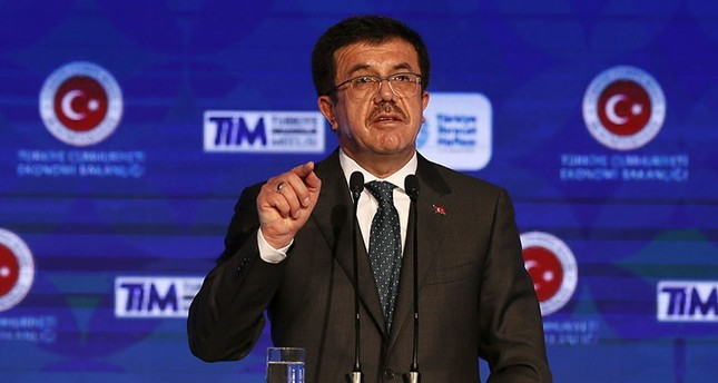 Economy Minister Nihat Zeybekci speaking at an event for Turkey Export Week on Nov. 1, 2017 (AA Photo)