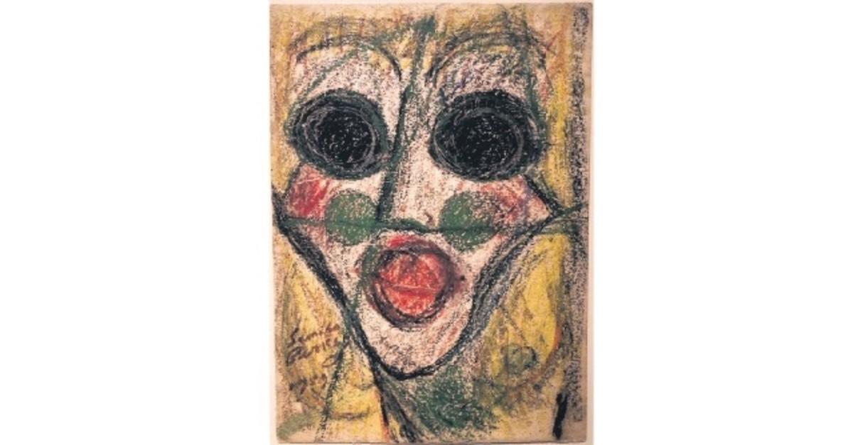 Cahide Sonku, 1959, pastel on paper, 35 x 25 cm (unframed), 63 x 52.5 cm (framed)