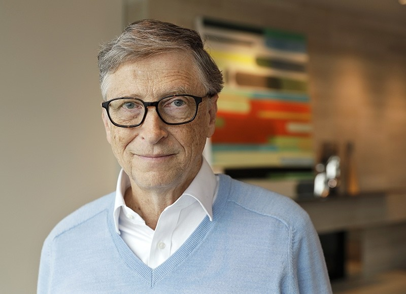 Microsoft co-founder Bill Gates poses for a photo before an interview with The Associated Press in Kirkland, Wash. (AP Photo)