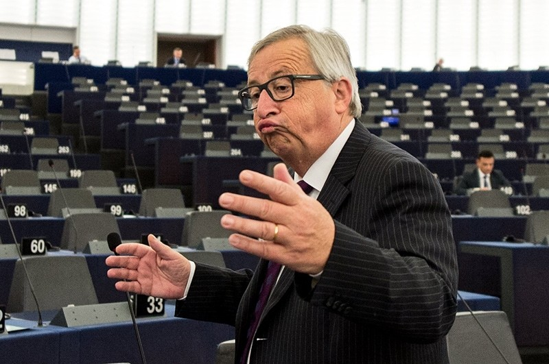 President of the European Commission Jean-Claude Juncker delivers his speech at the European Parliament in Strasbourg, France, 04 July 2017 (EPA Photo)